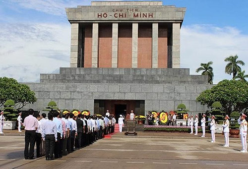 Ho Chi Minh Mausoleum situates near One Pillar Pagoda