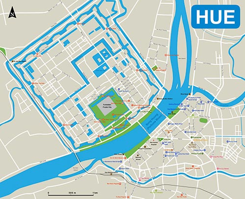 Hue Monument travel map