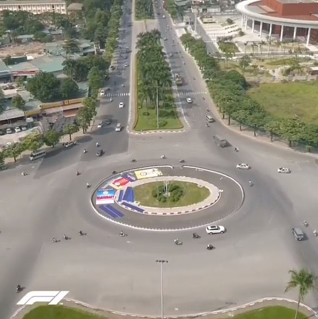An aerial shot of the main straight which will be used for the circuit — Le Quang Dao
