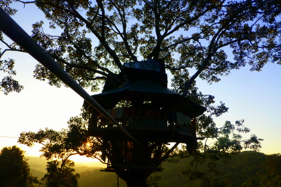 gibbon-experience-tree-house-sunset