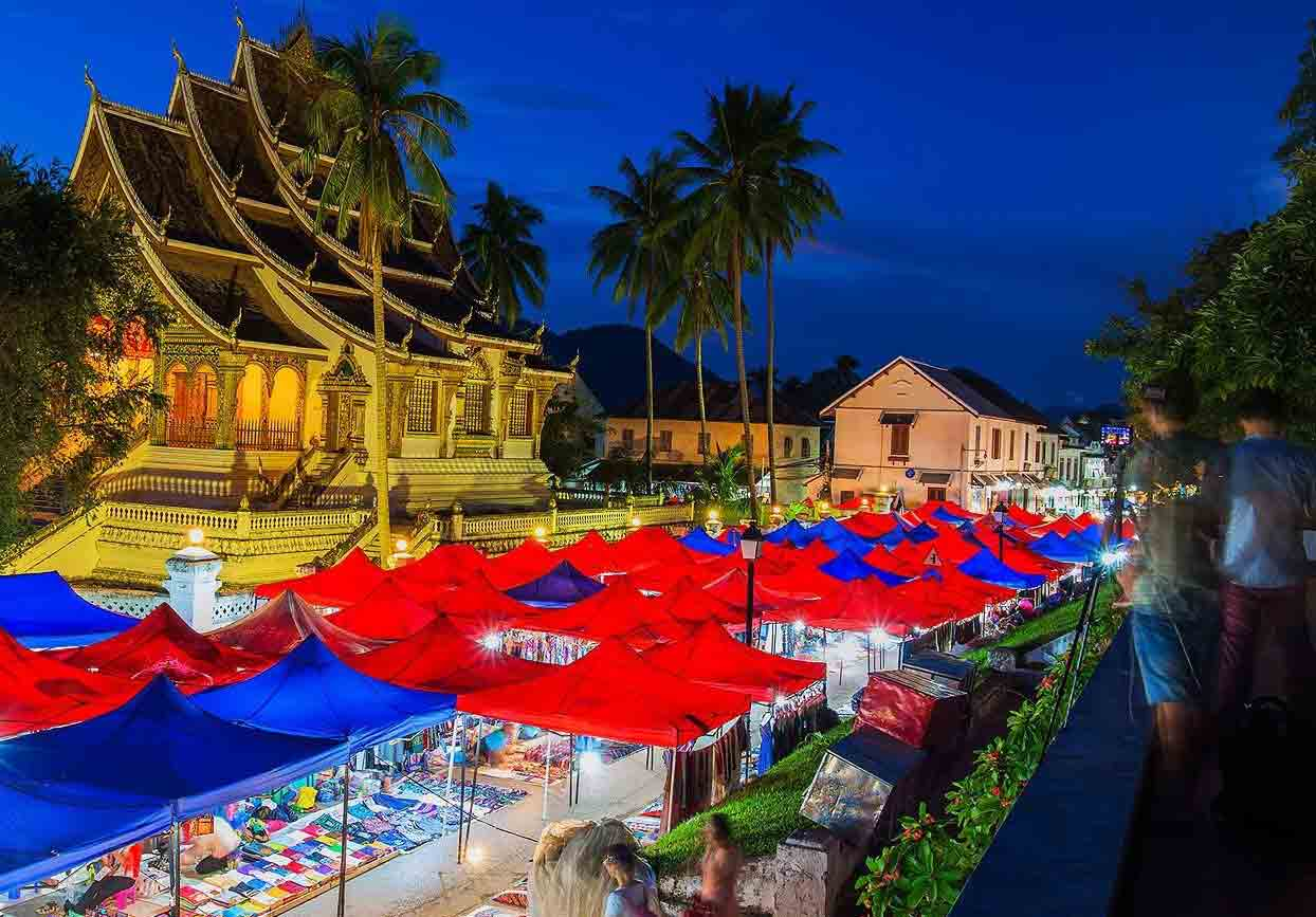 Night market in Luang Prabang, Laos