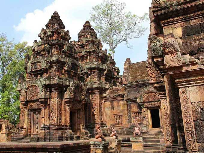 Banteay Srei Temple with its sacred carved sculptures