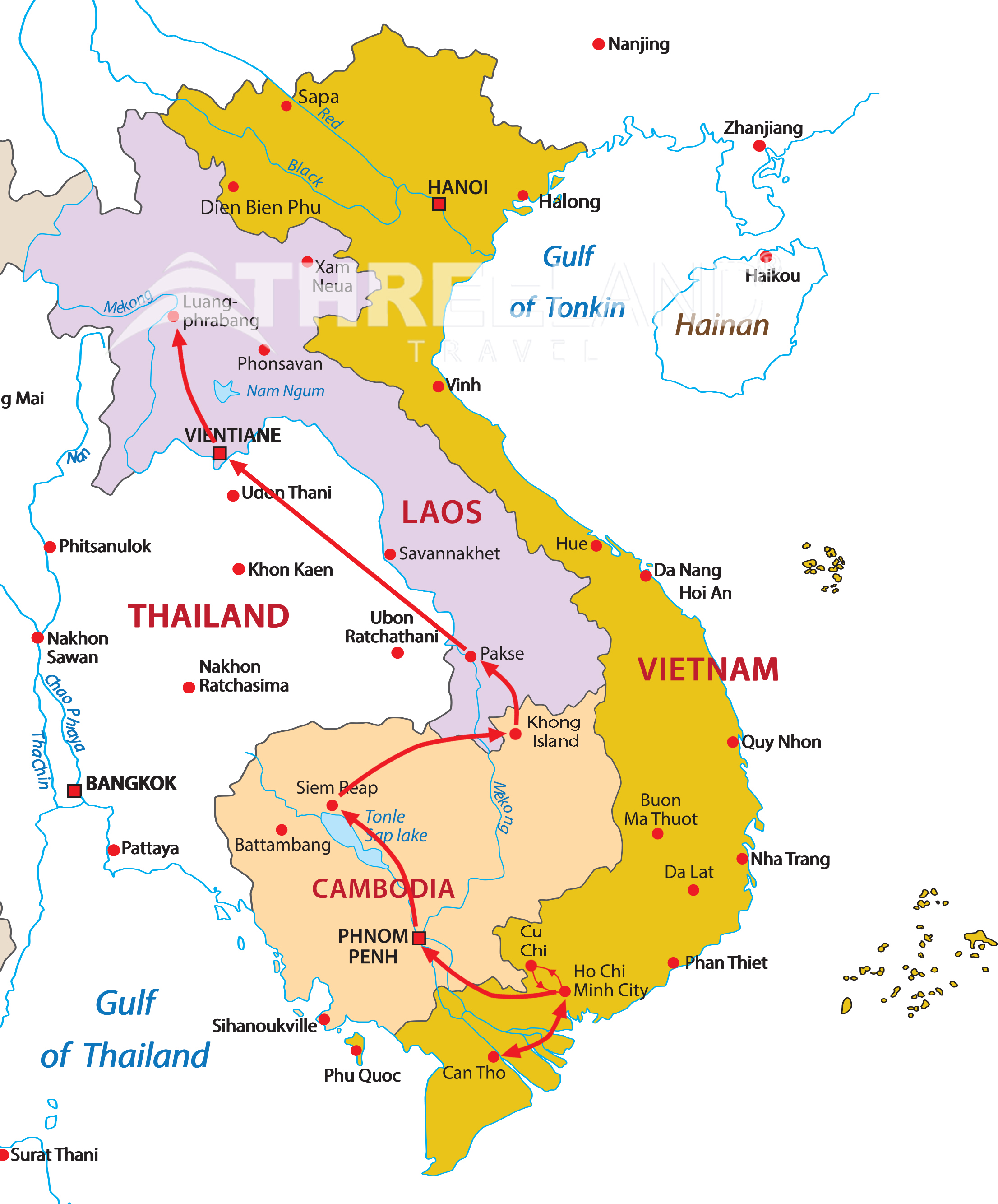Indochina Frontier And Beyond