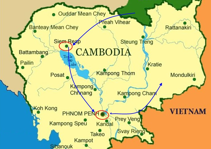 COMBINATION OF SIEM REAP AND PHNOM PENH