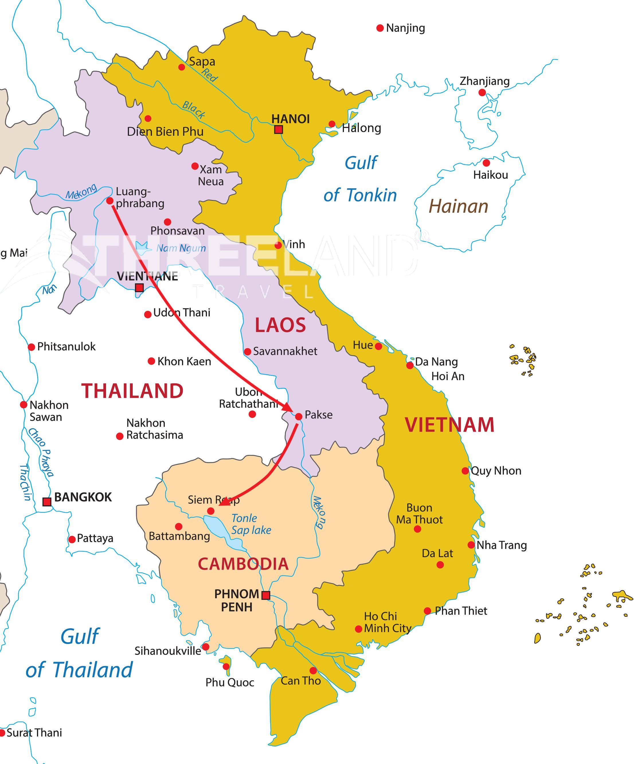 Transborder tour Laos - Cambodia